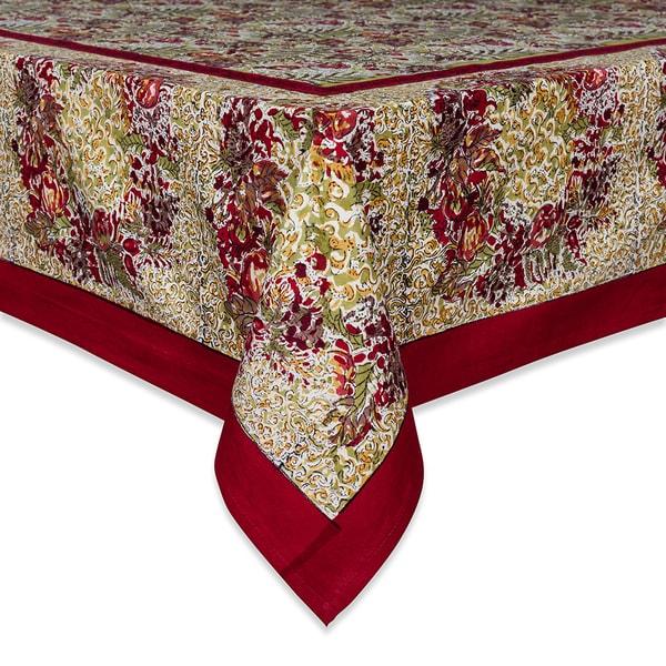 Couleur Nature Winter Garden Wreath Square Tablecloth