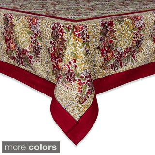 Couleur Nature Winter Garden Wreath Square Tablecloth
