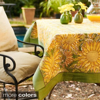 Couleur Nature Sunflower 70-inch Round Tablecloth