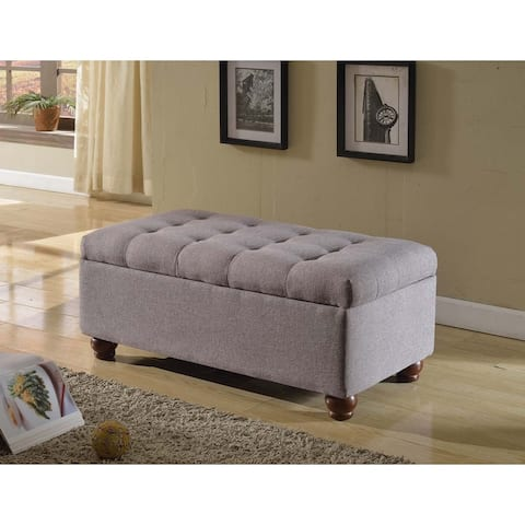 Copper Grove Sororia Tufted Linen Storage Bench