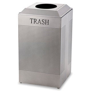 Rubbermaid Commercial Silver Metallic Silhouette 29-gallon Waste Receptacle