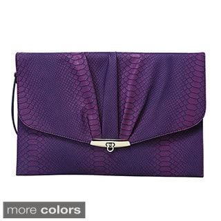 Mellow World 'Wendie' Reptile-embossed Envelope Clutch