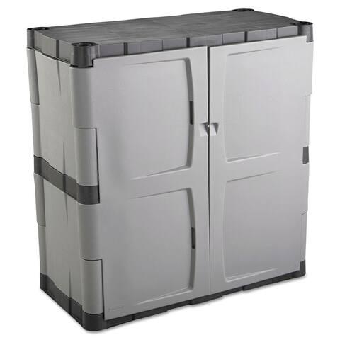 Rubbermaid Grey/Black Double-door Storage Cabinet