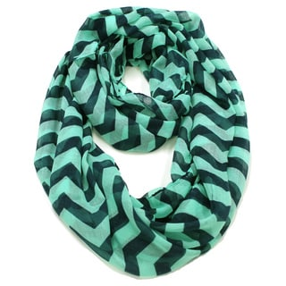 Le Nom Women's Nautical Chevron Infinity Scarf