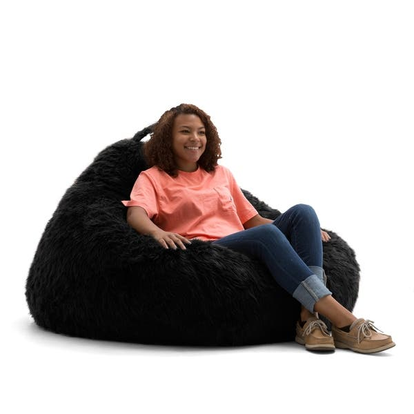 Phenomenal Shop Big Joe Lux 132 Teardrop Bean Bag Chair Shag On Creativecarmelina Interior Chair Design Creativecarmelinacom