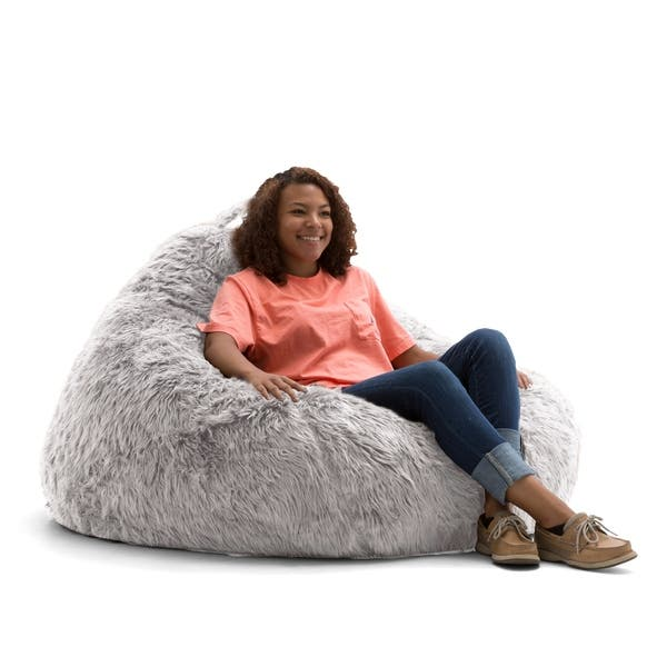 Wondrous Shop Big Joe Lux 132 Teardrop Bean Bag Chair Shag On Creativecarmelina Interior Chair Design Creativecarmelinacom