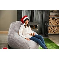 "Big Joe Lux 132"" Teardrop Bean Bag Chair, Shag"