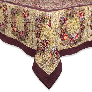 Link to Couleur Nature Winter Garden Wreath Square Tablecloth Similar Items in Table Linens & Decor