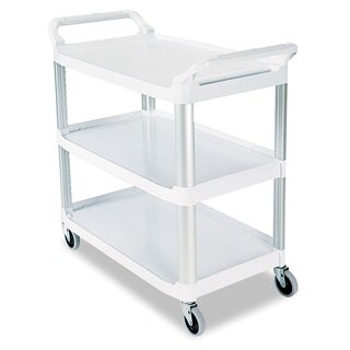 Rubbermaid Commercial Off-white 3-shelf Open Sided Utility Cart