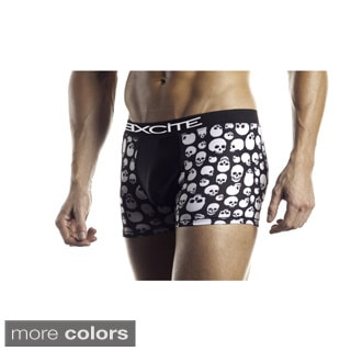 Fantasy Lingerie Excite Series Men's Skull Print Boxer Briefs