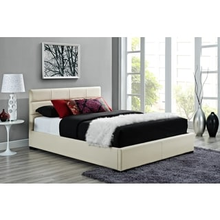 DHP Modena Creme Upholstered Bed