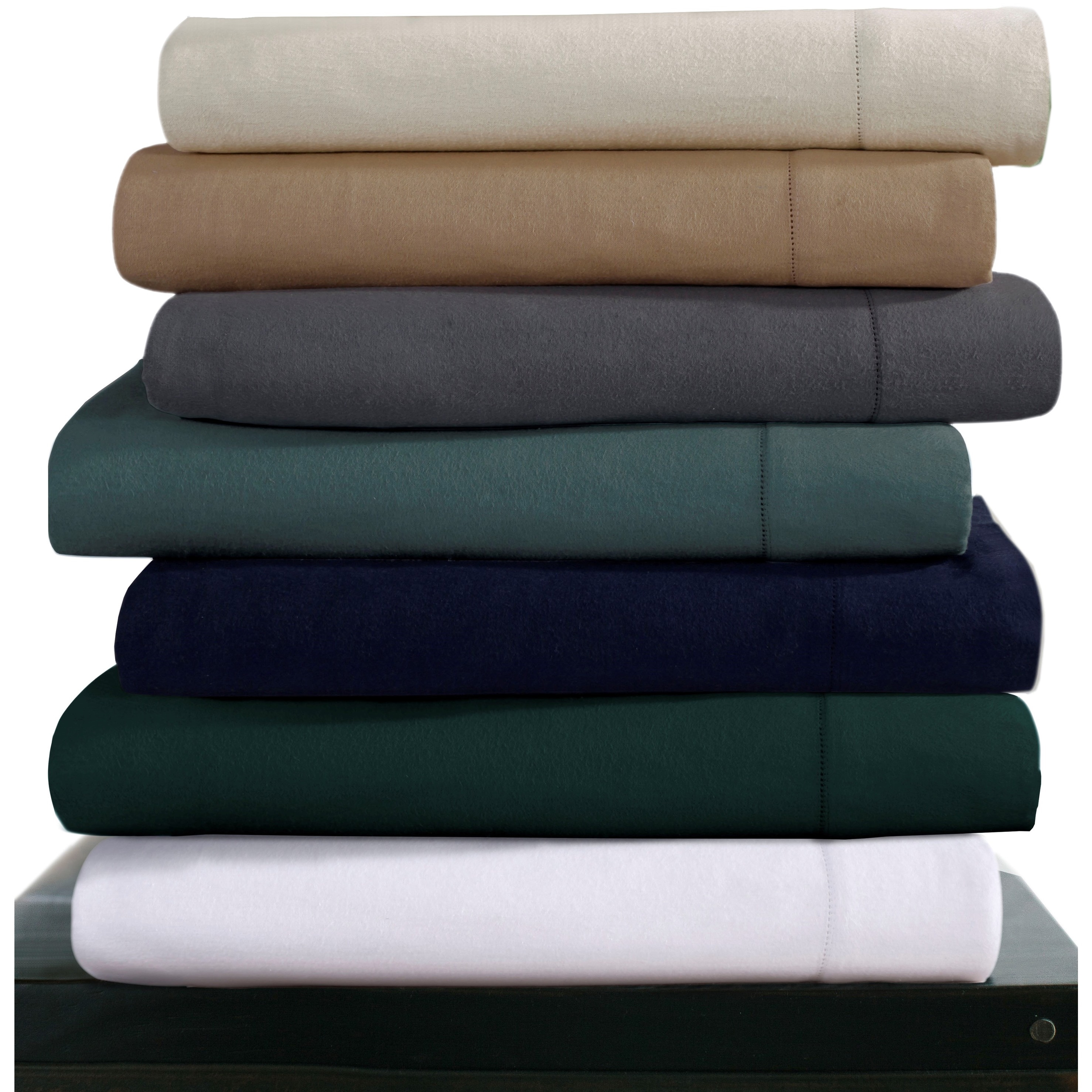 Tribeca Living Luxury 200-GSM Cotton Flannel Hemstitched ...