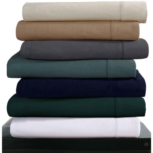luxury 200gsm cotton flannel hemstitched extra deep pocket sheet set