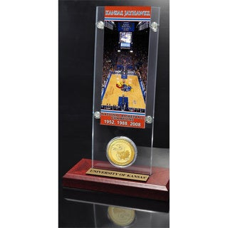 University of Kansas Basketball 3-time National Champs Ticket and Bronze Coin