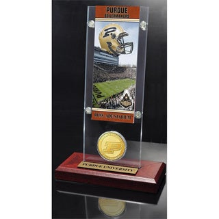 Purdue University Ticket and Bronze Coin Acrylic Desk Top