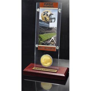 Purdue University Ticket and Bronze Coin Acrylic Desk Top