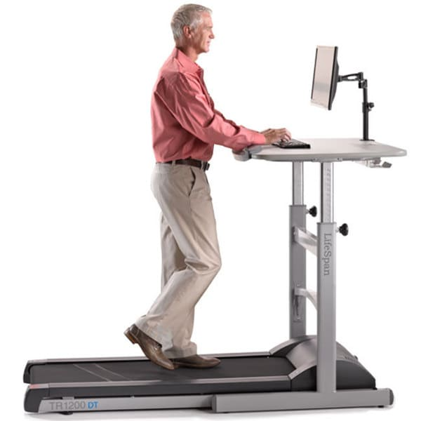 Stupendous Lifespan Tr1200 Dt5 Treadmill Desk Grey Download Free Architecture Designs Embacsunscenecom