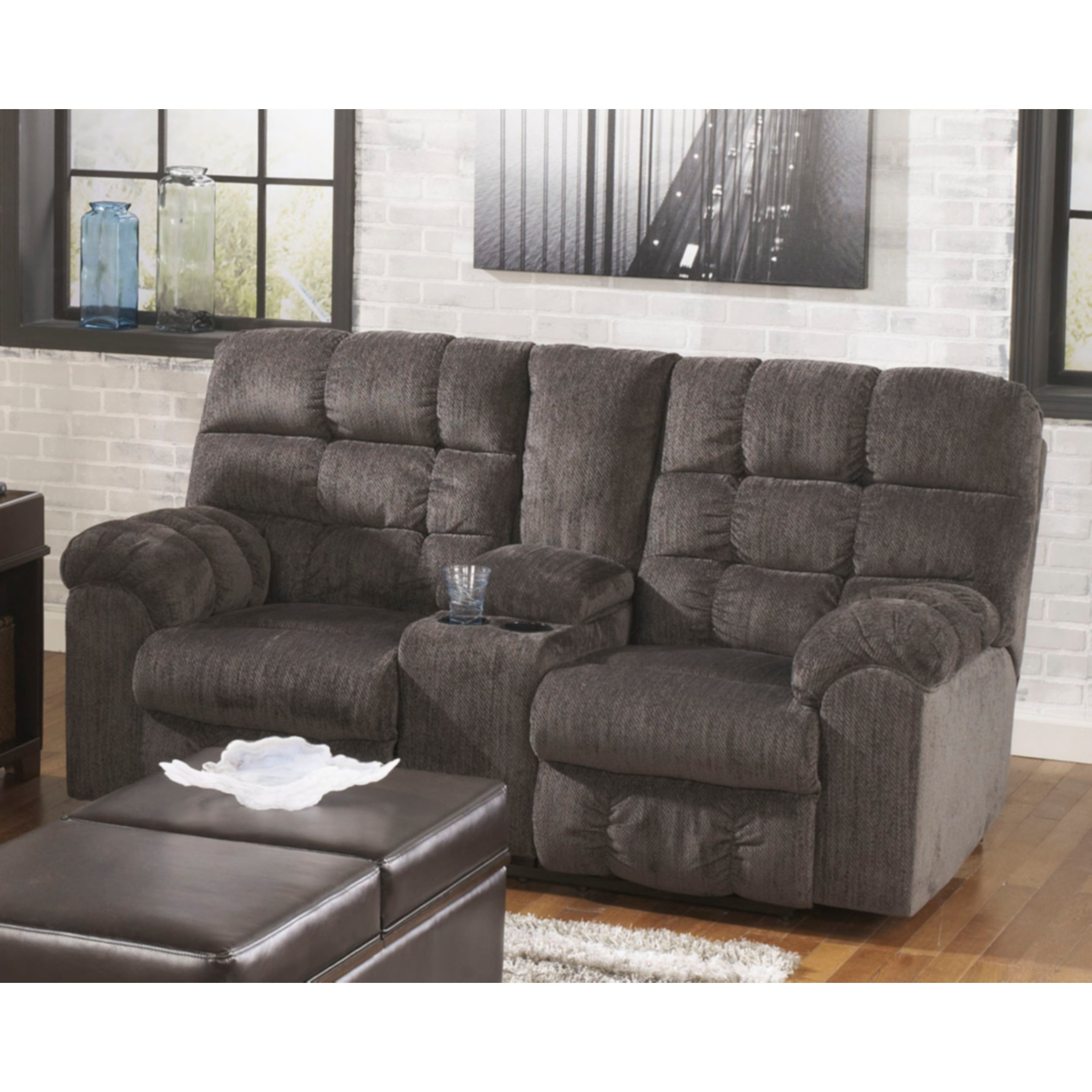 Ashley Acieona' Double Reclining Loveseat (Acienoa Slate ...