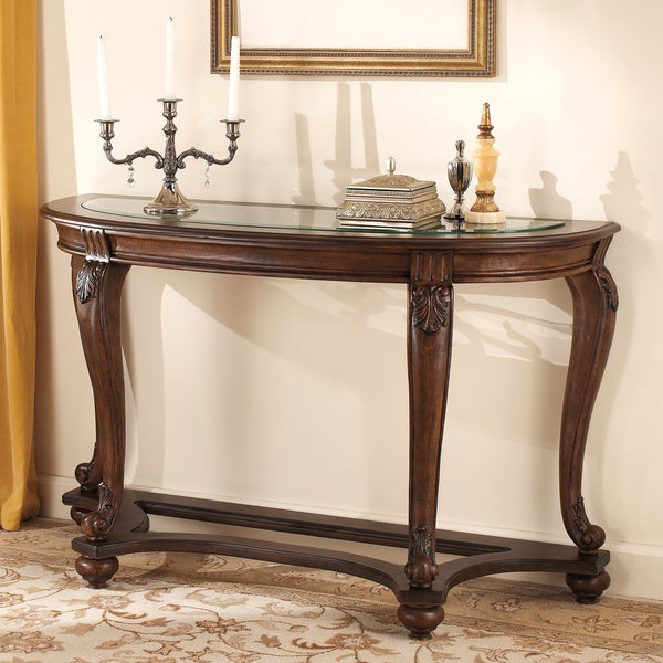 Antigo Sofa Table: Signature Design By Ashley 'Norcastle' Dark Brown Sofa