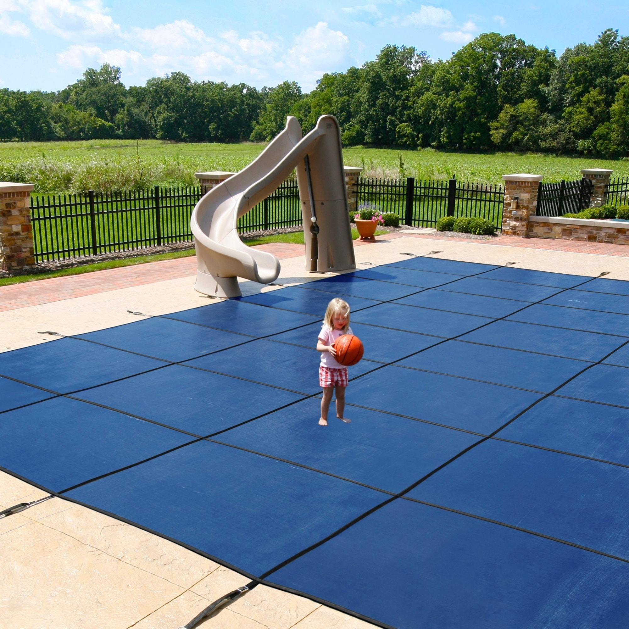 Blue Wave Blue Rectangular In-ground Pool Safety Cover (1...