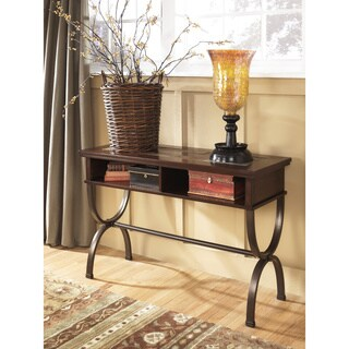 Signature Design by Ashley Zander Medium Brown Console Sofa Table