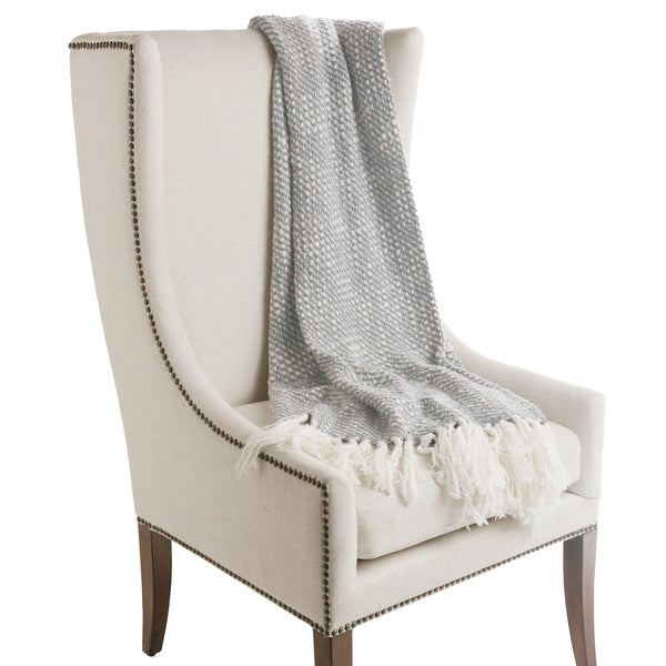 Aurora Home Fringe Wool Knit Throw Blanket. Opens flyout.