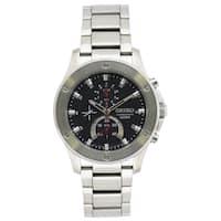 Seiko Men's SPC095 Chronograph Black Dial Stainless Steel Watch