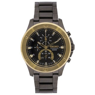 Seiko Men's SPC098 Chronograph Black Stainless Steel Watch