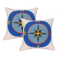 EDIE Laser Compass Indoor/ Outdoor 18-inch Pillows (Set of 2)