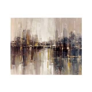 """Signature Design by Ashley Barid's """"Abstract Cityscape"""" Wrapped Canvas Wall Art"""
