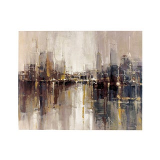 "Signature Design by Ashley Barid's ""Abstract Cityscape"" Wrapped Canvas Wall Art"
