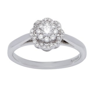 Platinum over Silver 1/3ct TDW Diamond Ring (I-J, I1-I2)