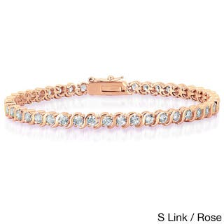 Dolce Giavonna Gold Overlay Cubic Zirconia Tennis Style Bracelet|https://ak1.ostkcdn.com/images/products/9435369/P16621243.jpg?impolicy=medium