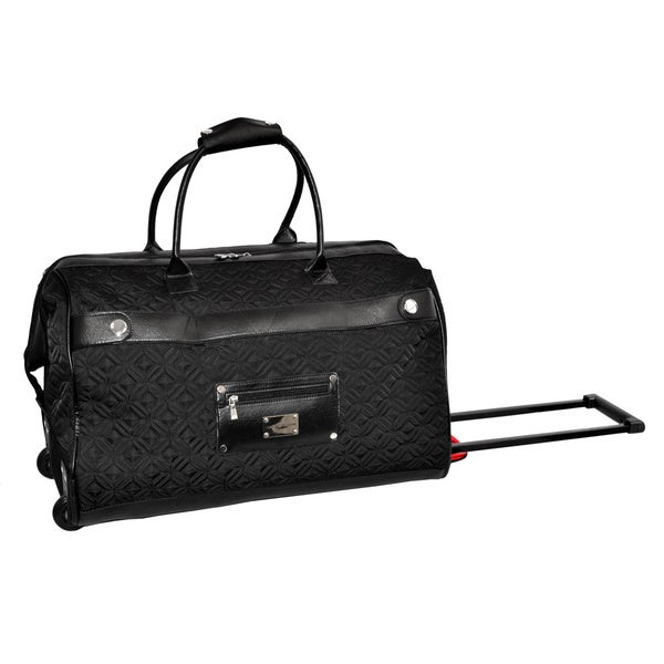 Adrienne Vittadini 22 Inch Carry On Quilted Rolling