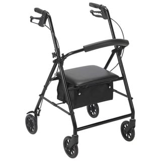 "Drive Medical Rollator Rolling Walker with 6"" Wheels (Black)"