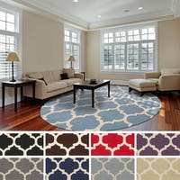 Hand-Tufted Prance Moroccan Trellis Wool Rug - 6'