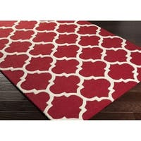Hand-tufted Riso Moroccan Trellis Wool Rug - 2'3 x 8'