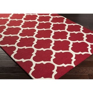 Hand-tufted Riso Moroccan Trellis Wool Rug (2'3x8') - 2'3 x 8'