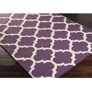 Hand-Tufted Even Moroccan Trellis Wool Rug (2'3 x 14')