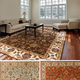 Hand-Tufted Kemi Traditonal Border Wool Rug (9' x 13')