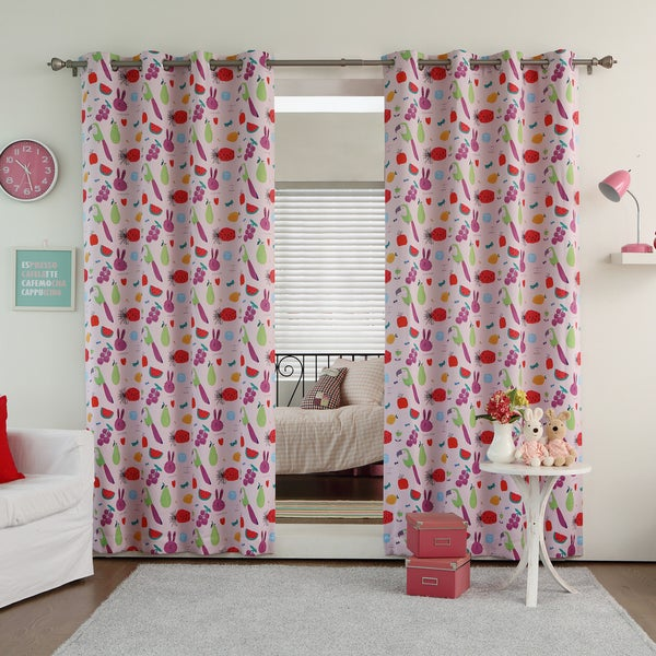 aurora home tropical paradise room darkening curtain panel pair - Room Darkening Curtains