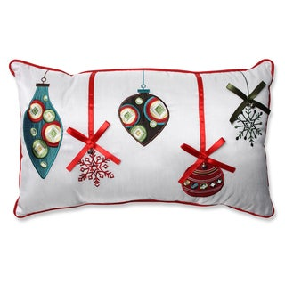 Pillow Perfect Holiday Ornaments Red/Green Rectangular Throw Pillow