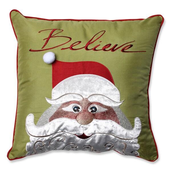 Shop Pillow Perfect Christmas Santa Believe 18 Inch Throw