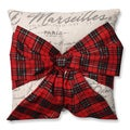 Pillow Perfect Holiday Plaid Bowknot 16.5-inch Throw Pillow