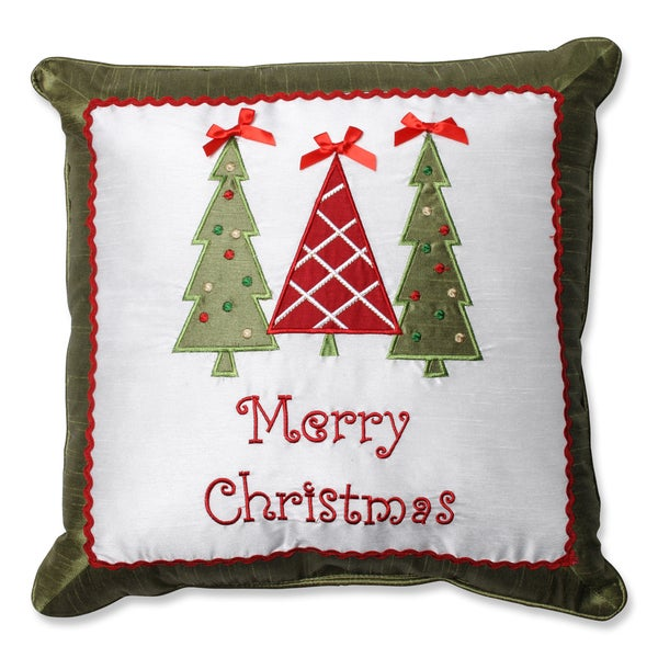 Shop Pillow Perfect Merry Christmas Trees 16 5 Inch Throw