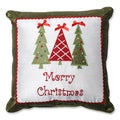 Pillow Perfect Merry Christmas Trees 16.5-inch Throw Pillow