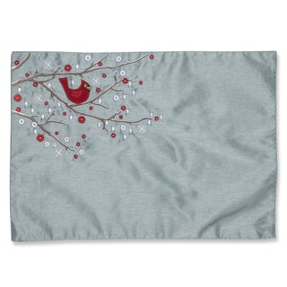 Holiday Cardinal on Snowy Branch Placemat (Set of 2)
