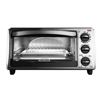 Black and Decker Black 4-slice Bezel Toaster Oven|https://ak1.ostkcdn.com/images/products/9435654/P16621473.jpg?impolicy=medium
