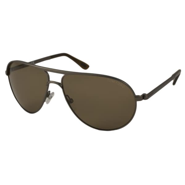 3c0d3644d93 Shop Tom Ford Men s TF0144 Marko Aviator Sunglasses - Free Shipping ...