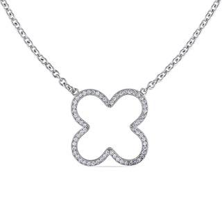 M by Miadora Sterling Silver Cubic Zirconia Necklace